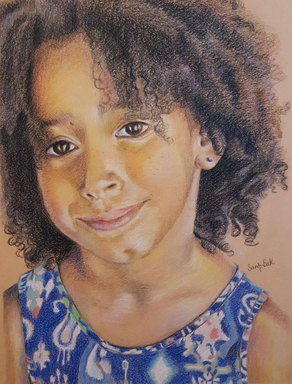 sandy bock, portrait artist, custom portrat painting, portrait art, family portrait, portrait illustration