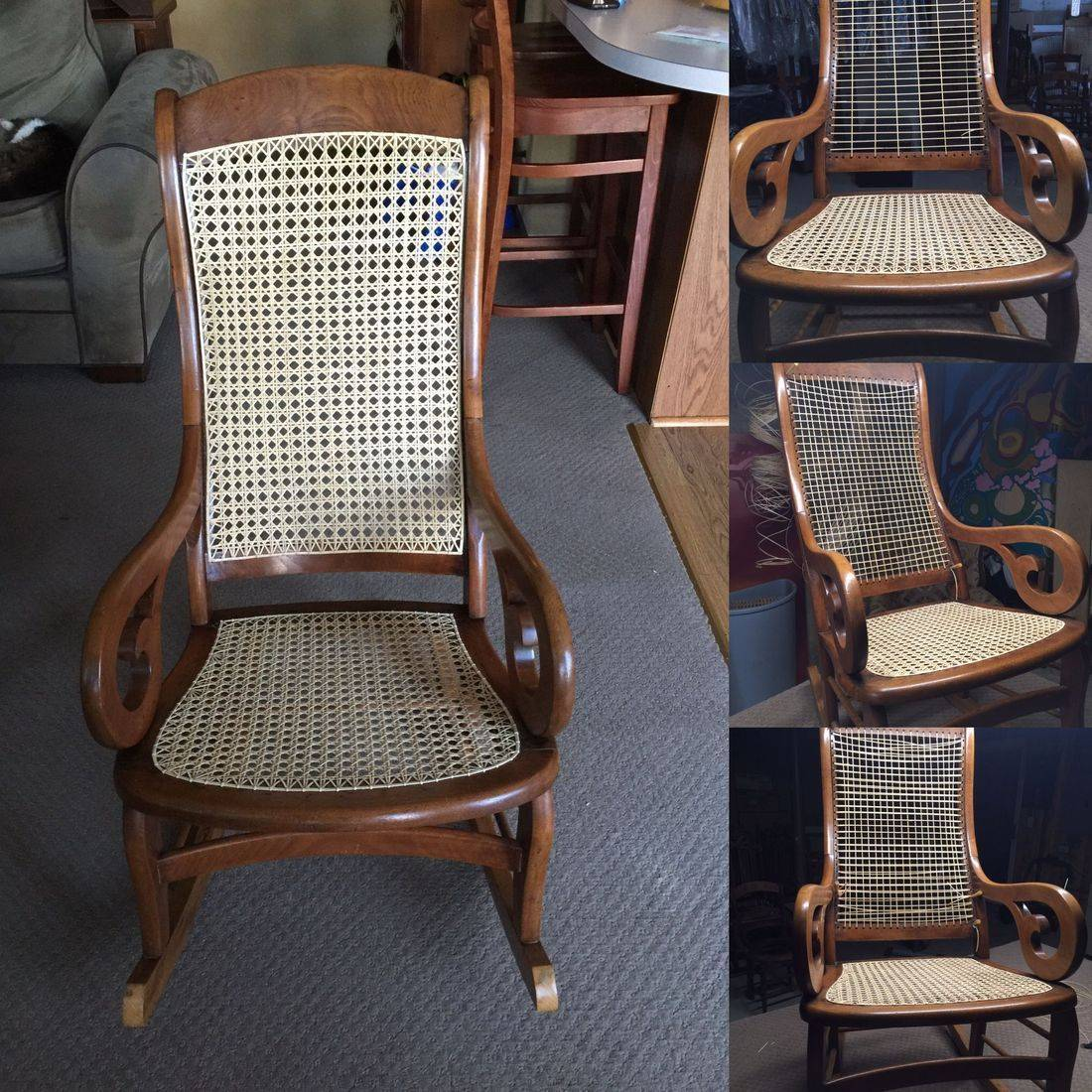 Caned Chair by Hank's Cane & Rush Restoration