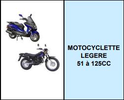 MOTOCYCLETTE LEGERE 51 à 125CC