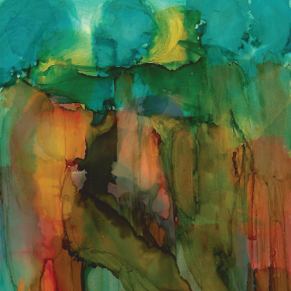 abstract alcohol ink painting, by Barbara Polc