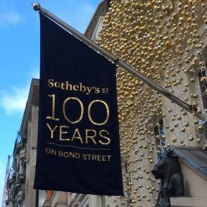 Sothebys Bond Street 100 years flag
