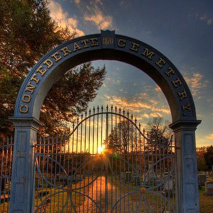 Beautiful Cemetery Gate