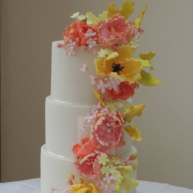 Wedding Cake Sugar Flower Spring Lily Peony Fantasy