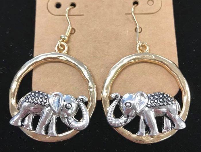 elephant, jewelry, earrings