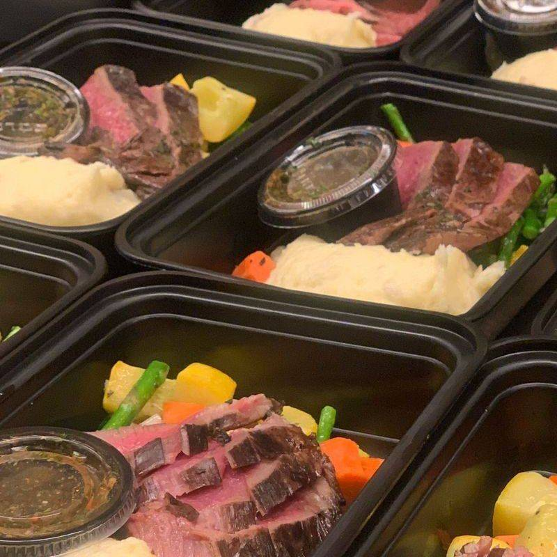 Grilled Marinated Flank Steak Box meal