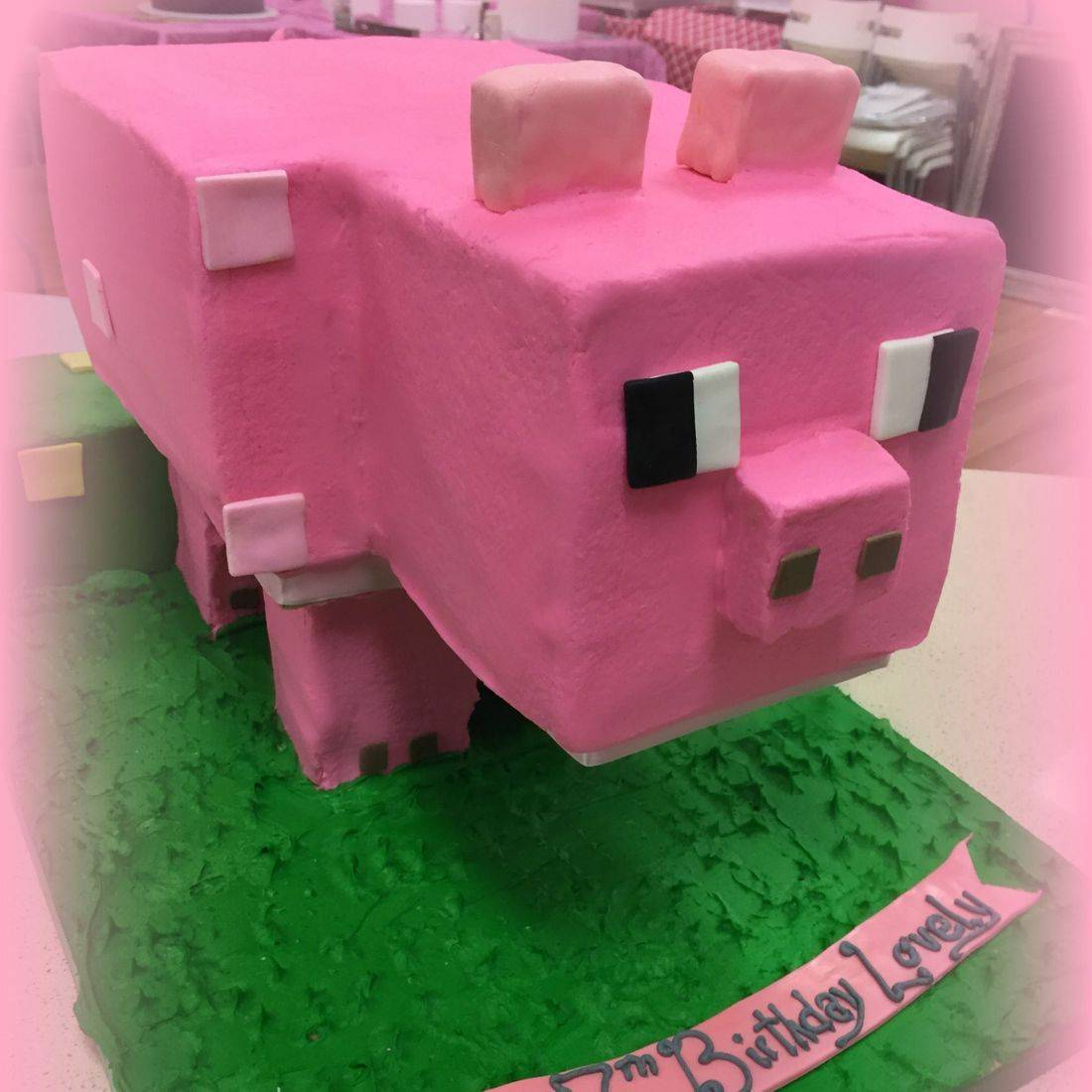 minecraft birthday cake pig cake creeper 3d minecraft cake