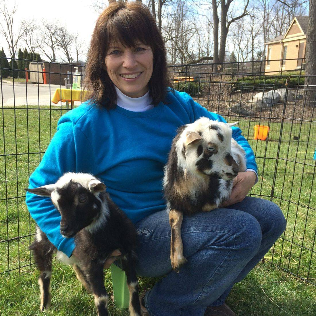 Cindy and goats