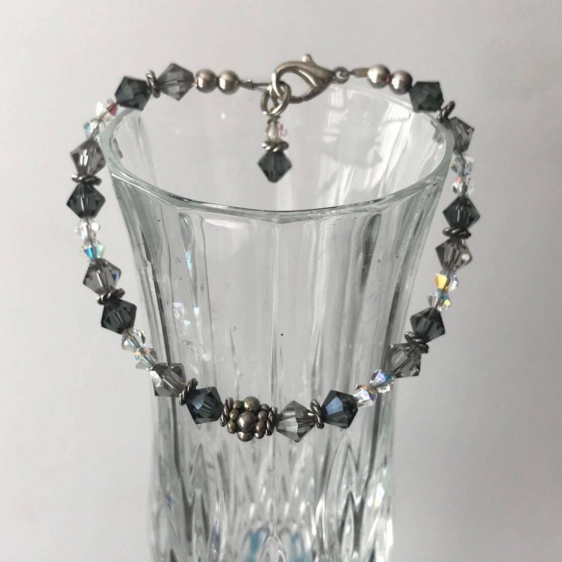 Gray Swarovski Crystal Bracelet