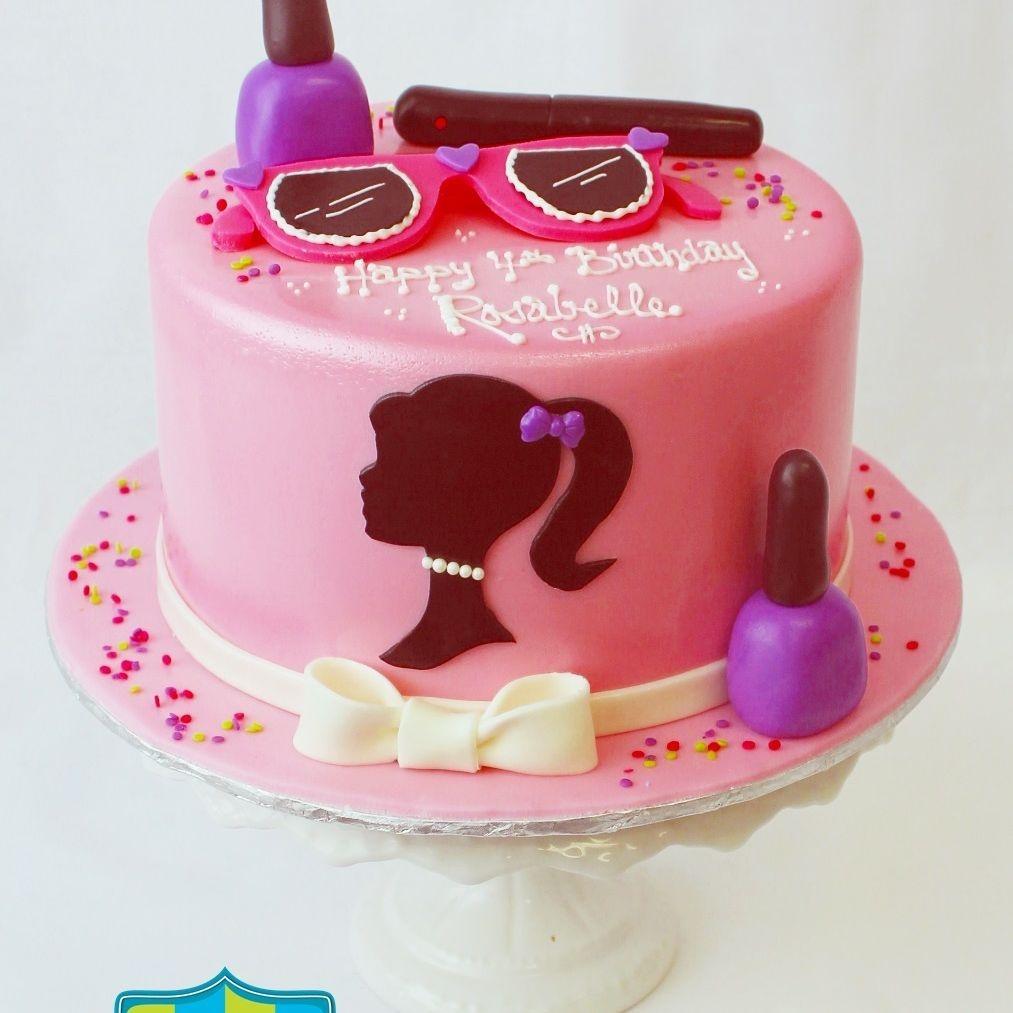 Custom  Barbie Makeup Cake Milwaukee