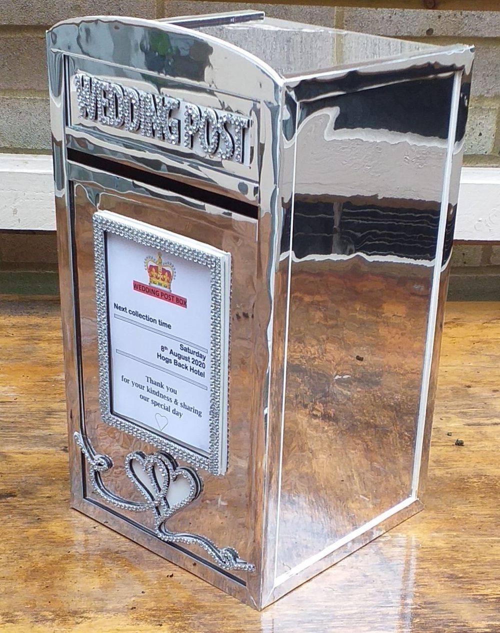 Mirror Wedding Post Box Hire
