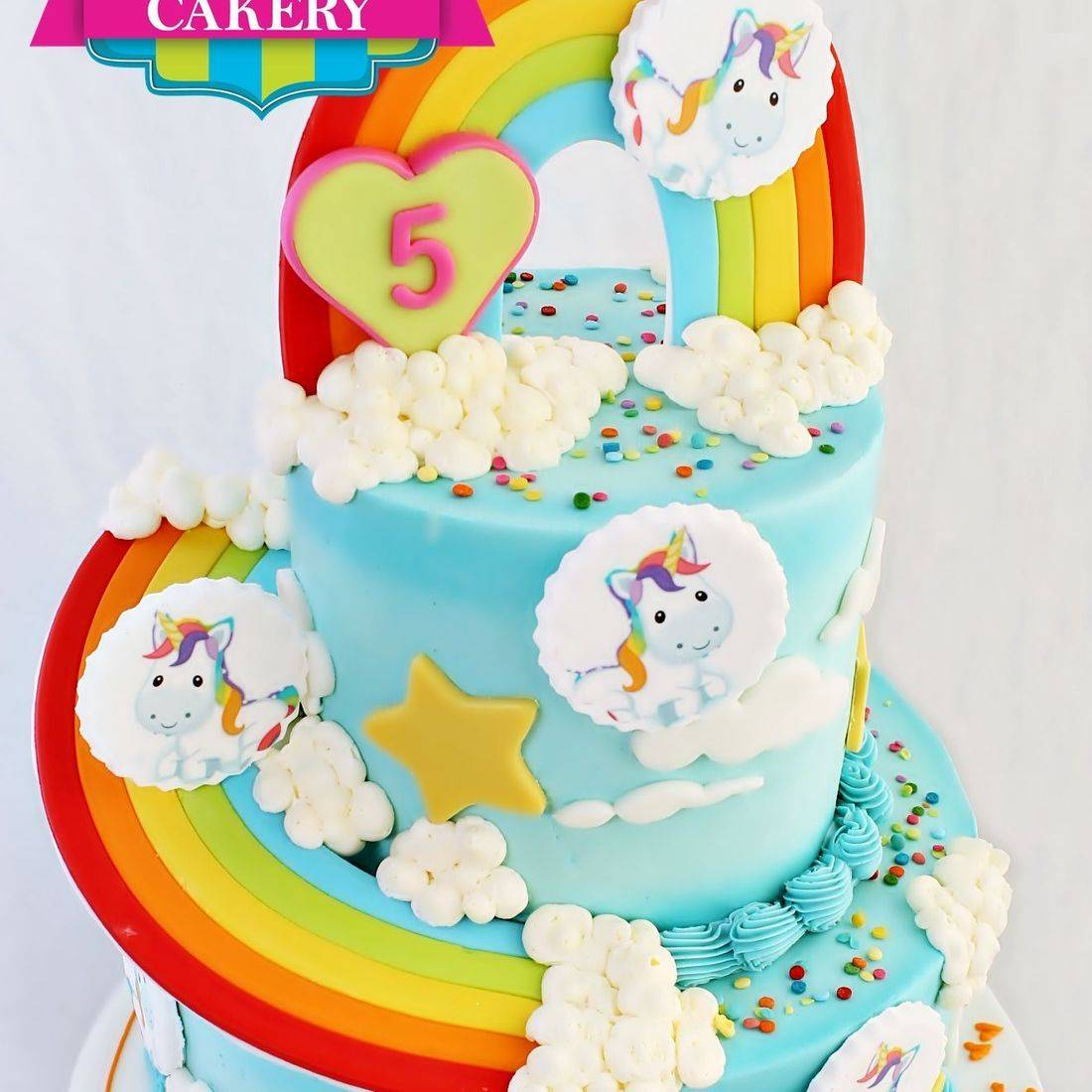 Rainbow Unicorn stylized cakes milwaukee