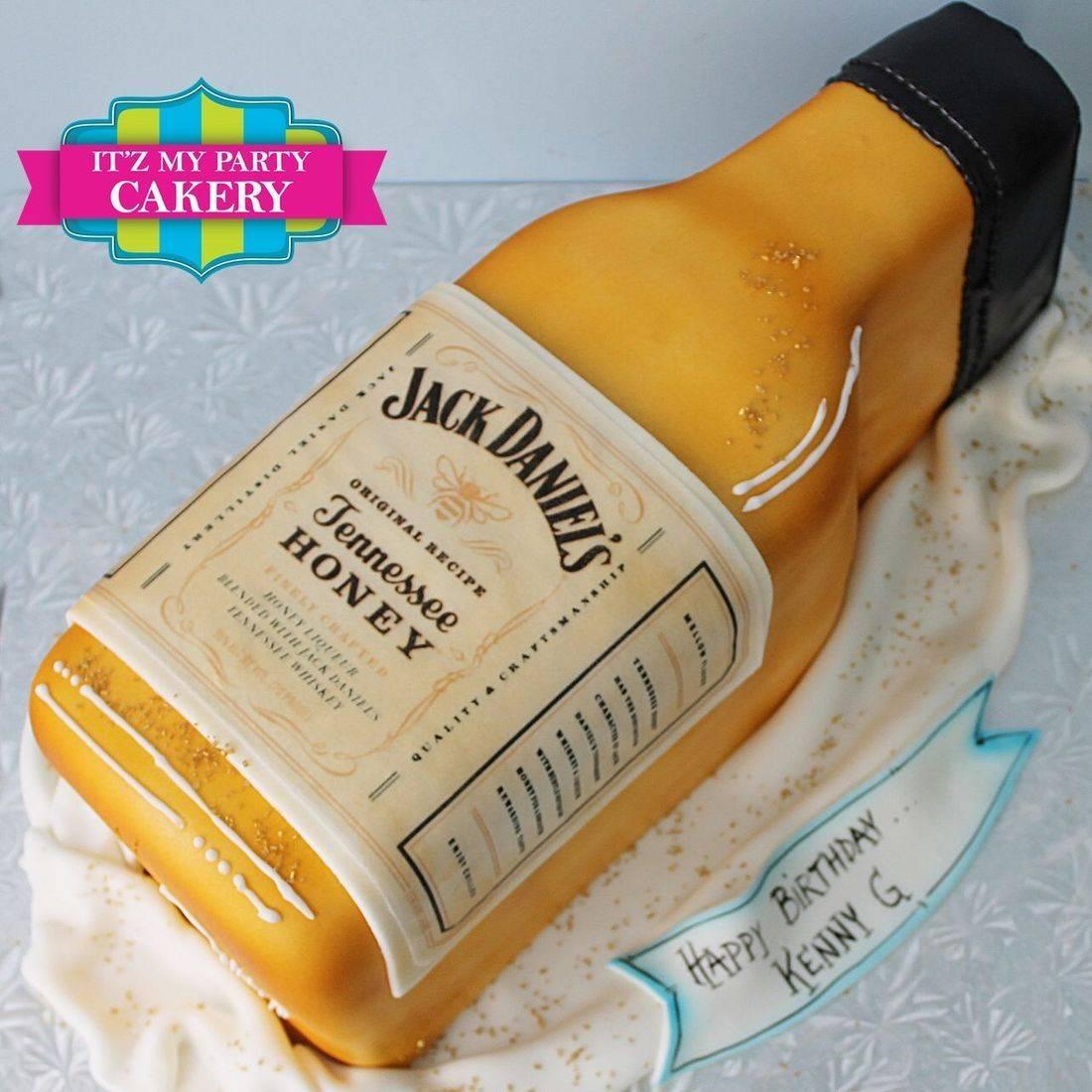 Jack Daniels Honey Bottle  Carved Dimensional Cake Milwaukee