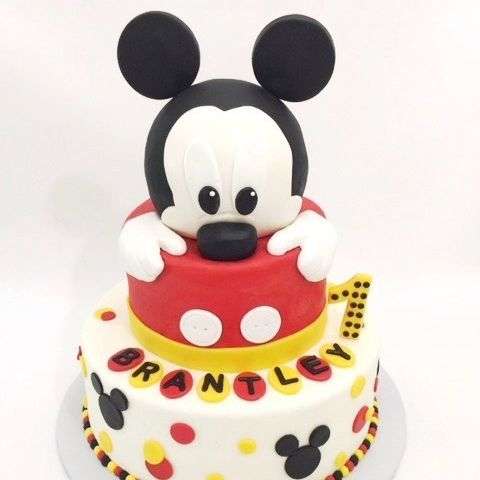 Mickey Mouse first birthday cake