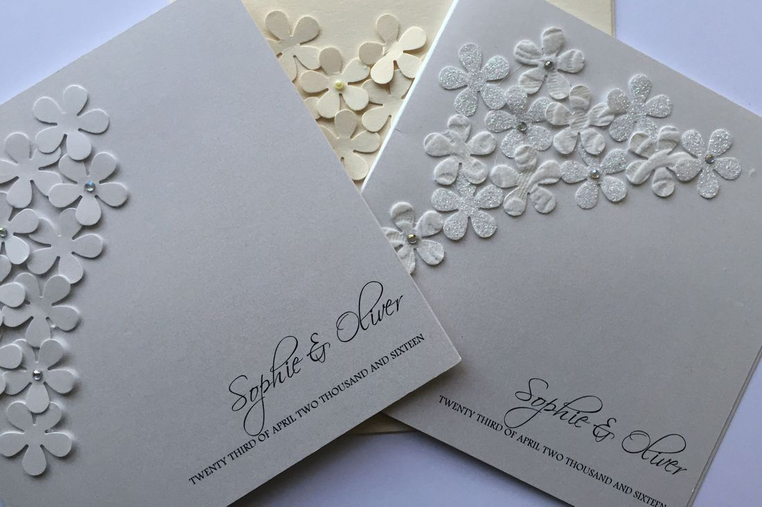 Flower wedding invitations, luxury wedding invitations, wedding invitations