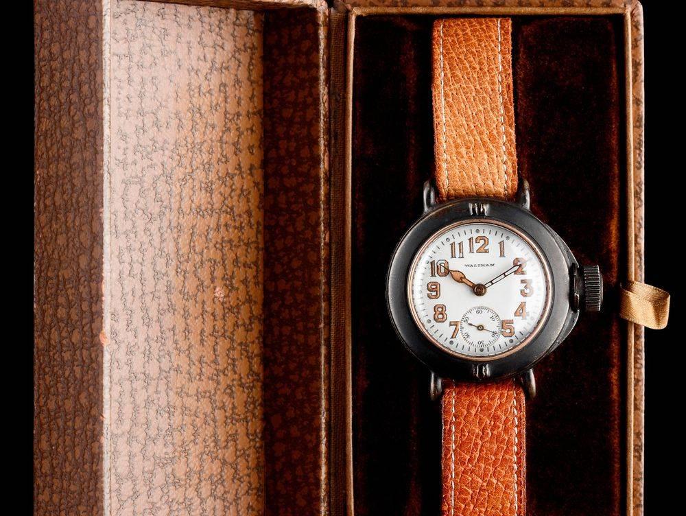 "1919 Waltham Depollier ""Field & Marine"" Waterproof Watch, in original factory box"