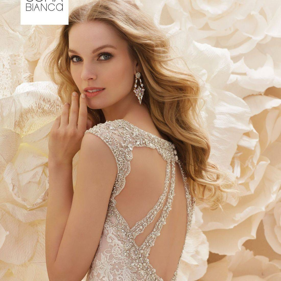 Sparkly wedding dresses, stunning wedding dresses, Ronald Joyce, sexy back wedding dress, fitted wedding dress