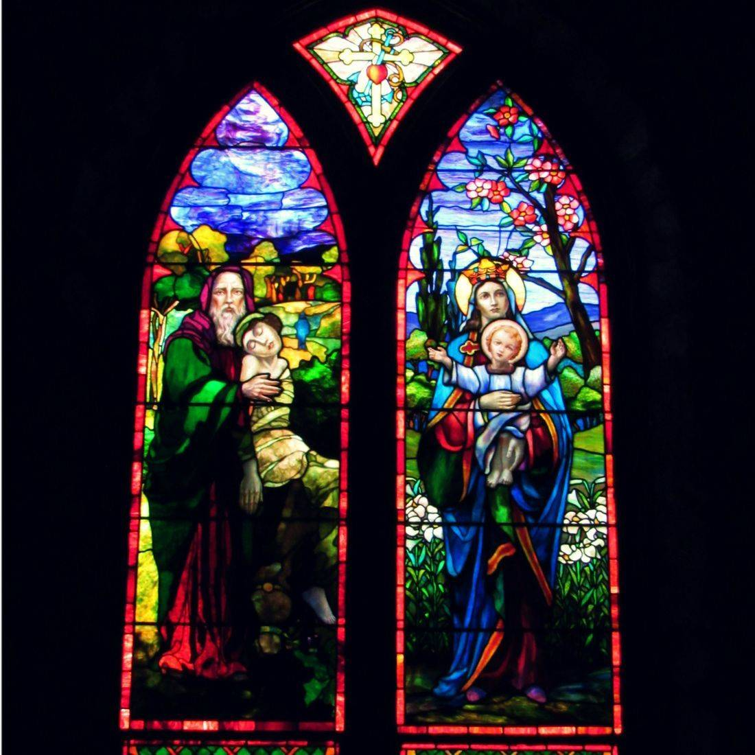 St. Francis, Episcopal, Church, North Carolina, Stain Glass, Window, Religion