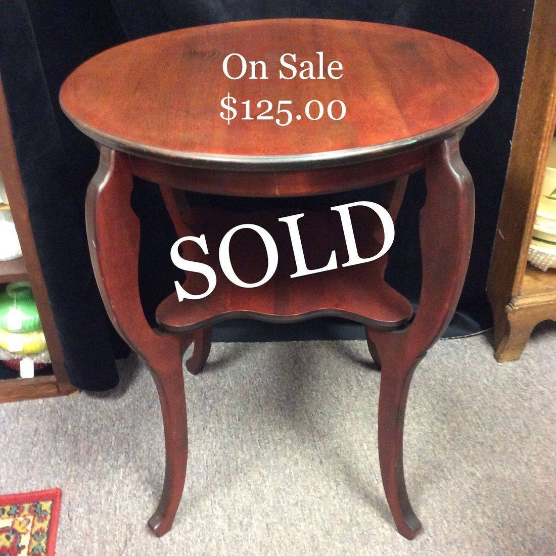 "Vintage Miller Cabinet Co. , 24"" Round Cherry Parlor Table.  'Now Only'  $125.00"