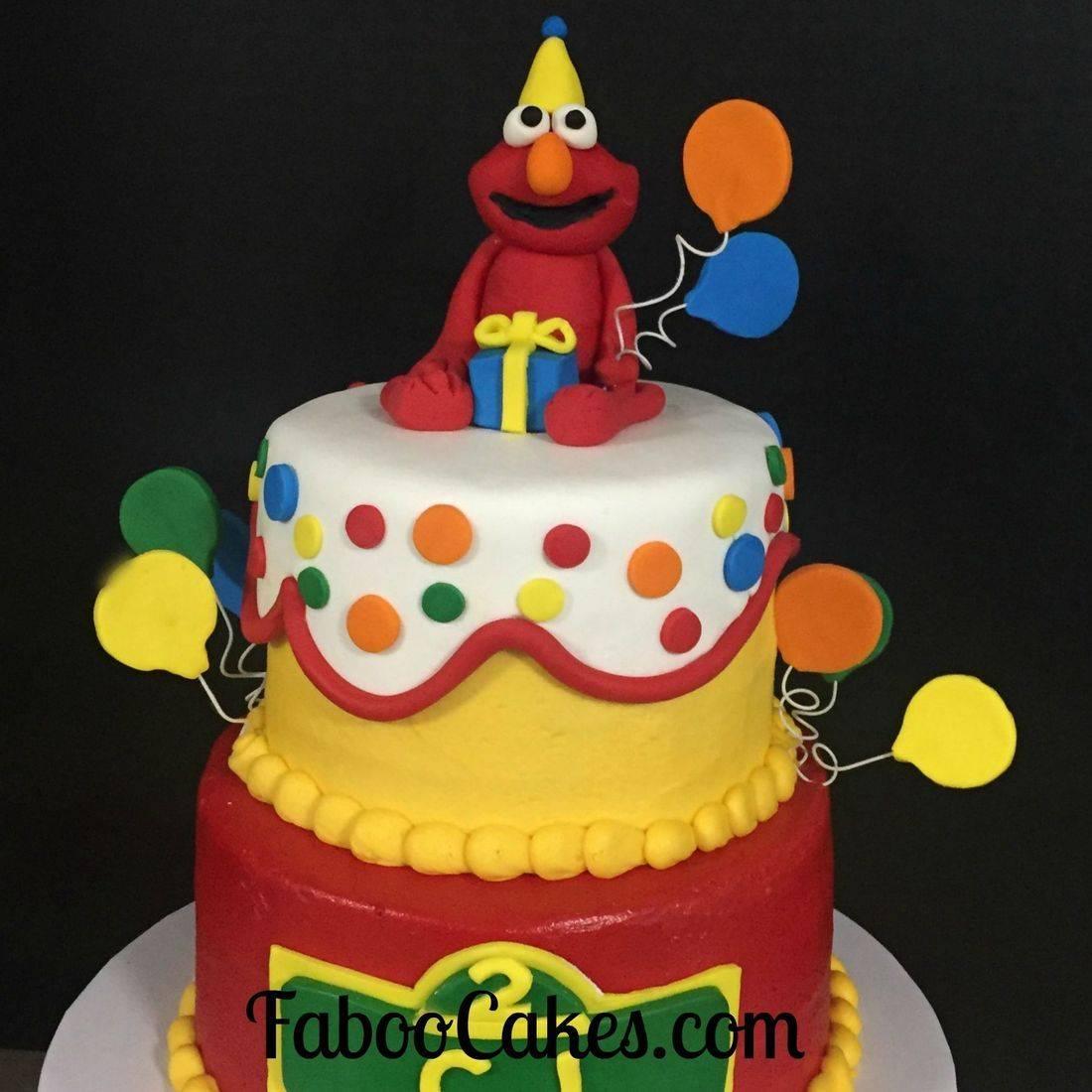 elmo birthday cake sesame street cake