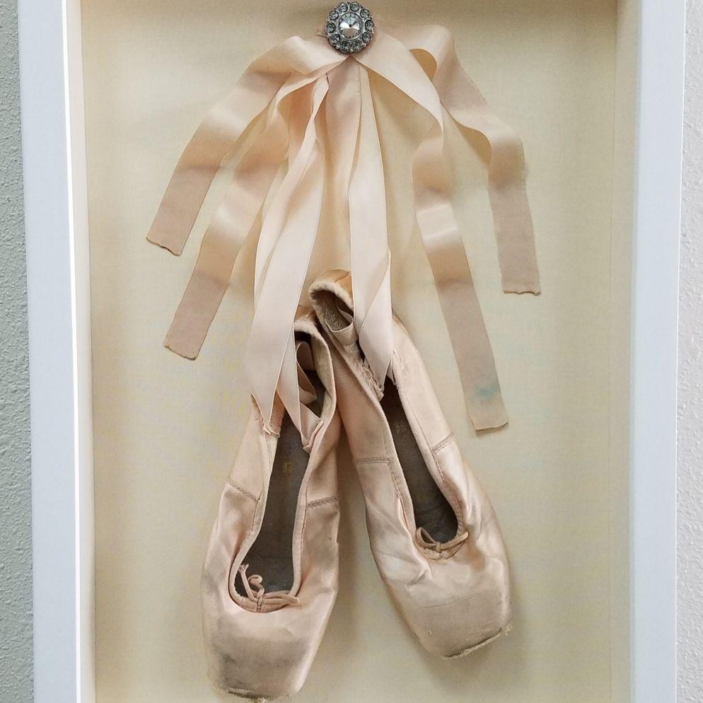 Custom framed ballerina slippers