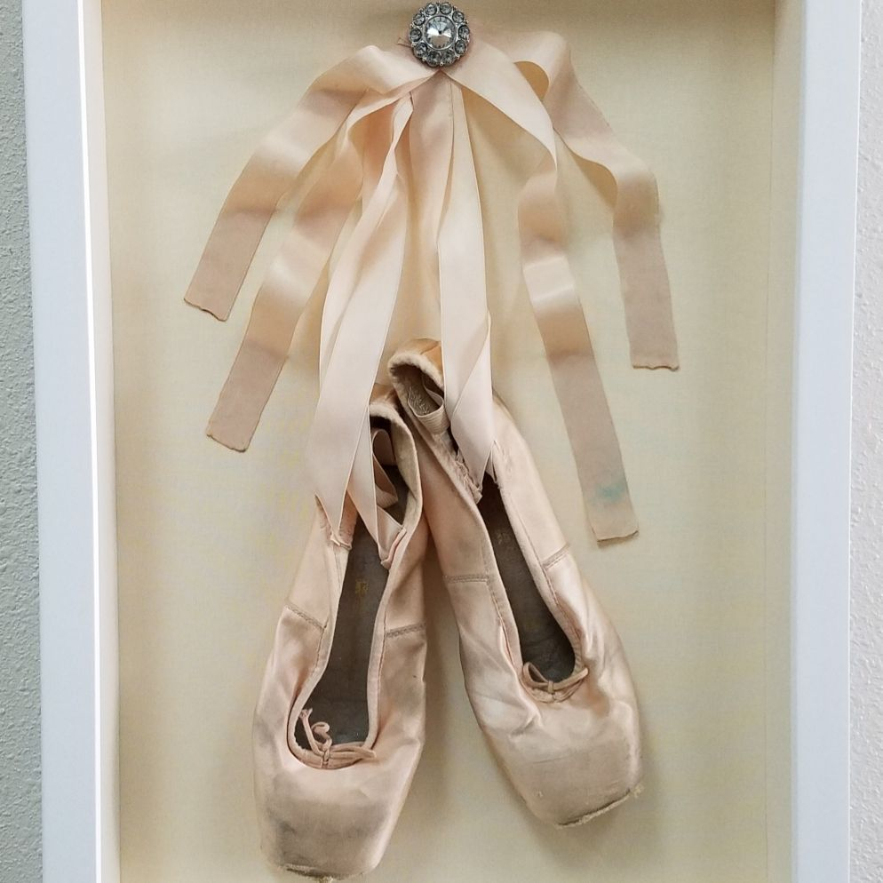 Custom framed ballerina slippers