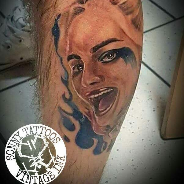 Harley Quinn Tattoo Vintage Ink
