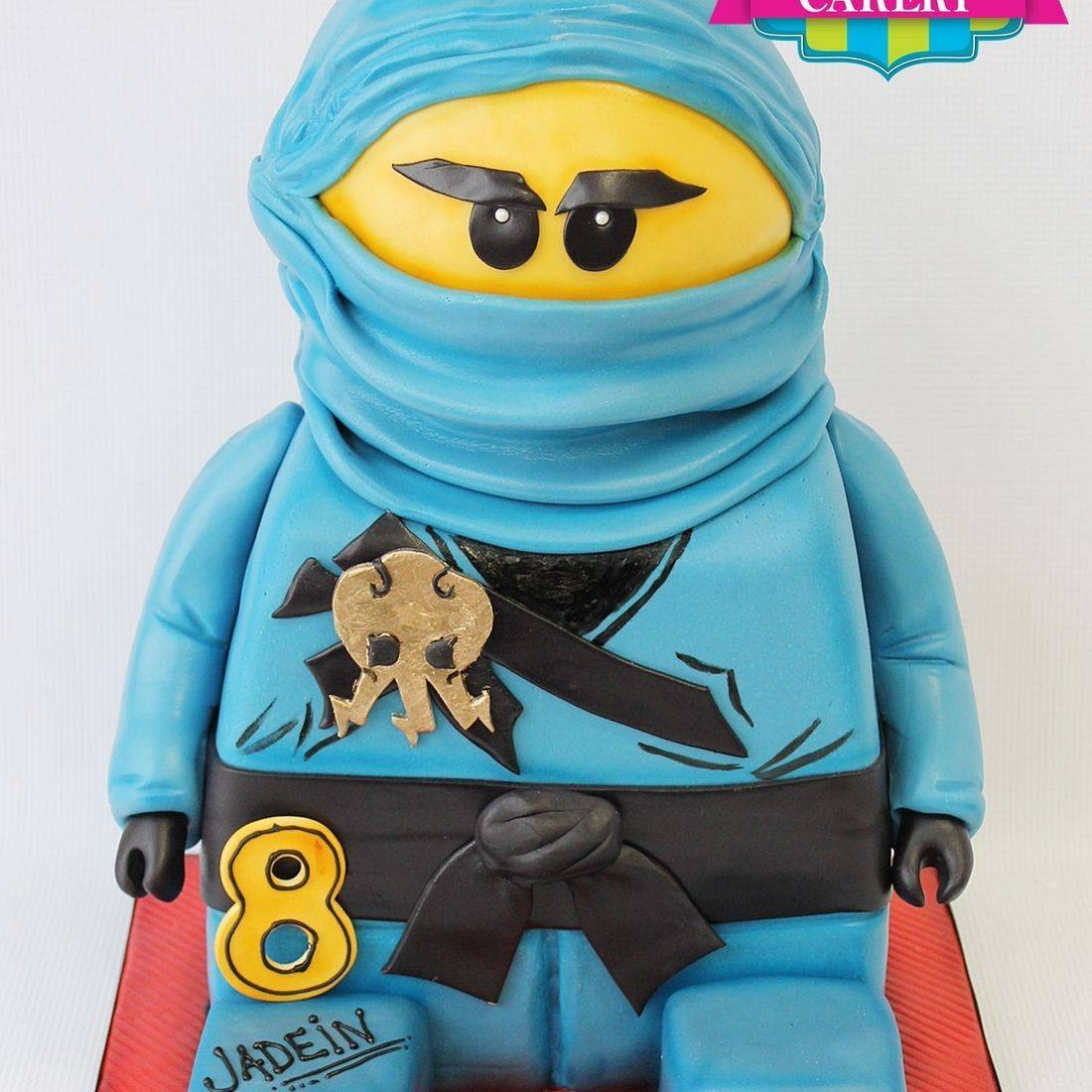 Ninja Legoman Cake Carved Dimensional Cake Milwaukee