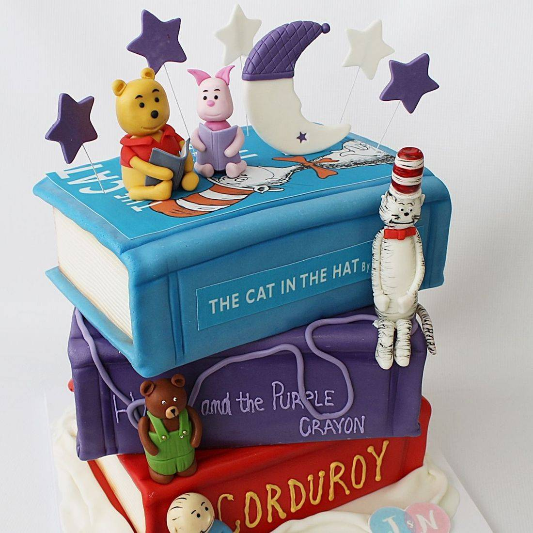 Stacked Books Cake Carved Dimensional Cake Milwaukee