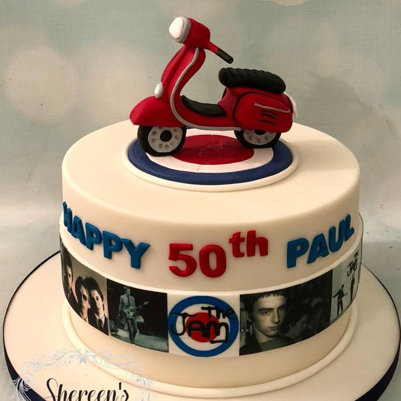 Birthday Cake Novelty Vespa Scooter