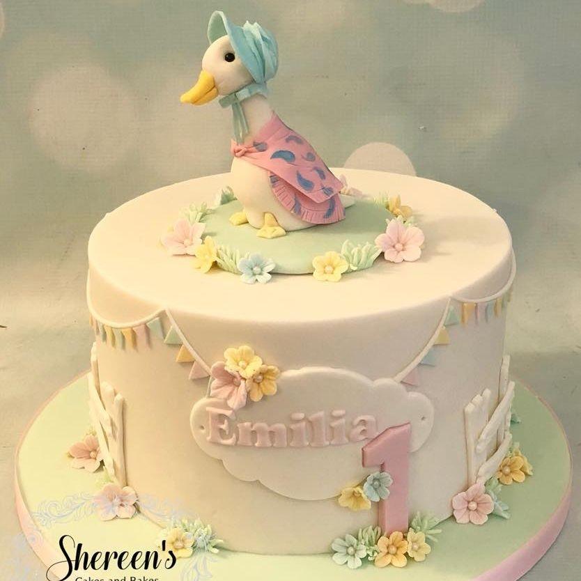 Jemima Puddleduck Beatrix Potter Birthday Cake 1st first PAstel