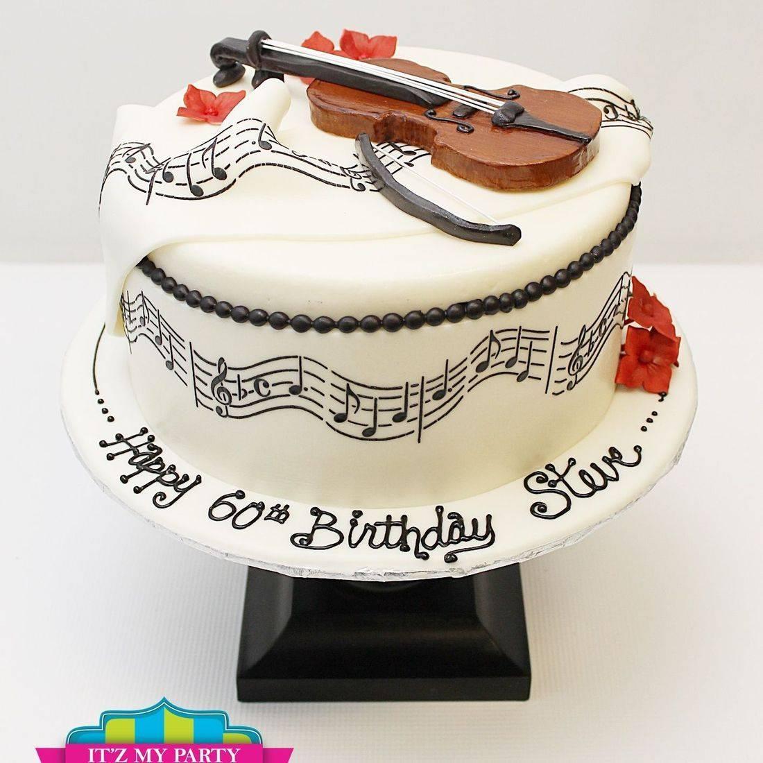 Custom Music Violin Cake Milwaukee