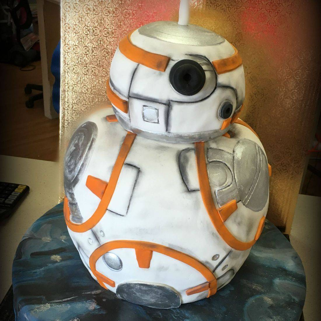 BB8 Star Wars  3D carved Grooms Cake