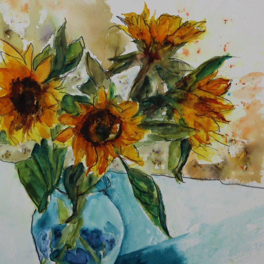 RPutbrese Watercolor, Rebecca Krutsinger, Becky Krutsinger watercolor painting