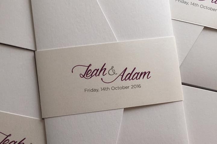 A6 pocketfold invitation, wedding invitations, luxury wedding invitations