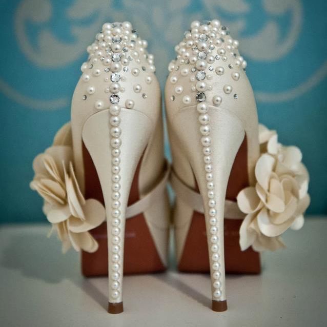Customised wedding shoes