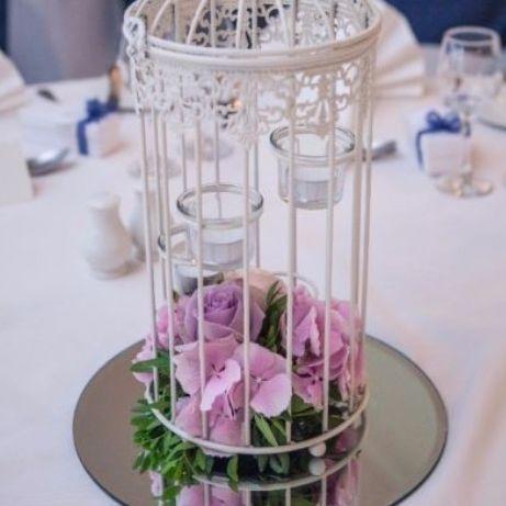 Tealight birdcage with fresh flowers glasgow