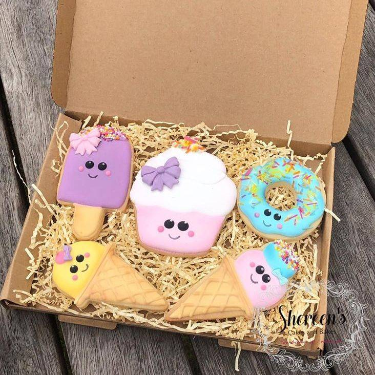 Iced Biscuits Cookie Kawaii Cookie Box
