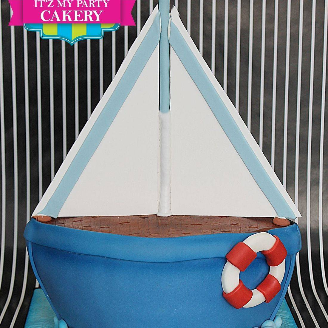 Sail Boat Sea Water Cake Carved Dimensional Cake Milwaukee