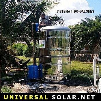 cisterna 1200 galones instalada