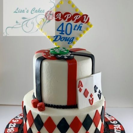 Casino Vegas Birthday Cake