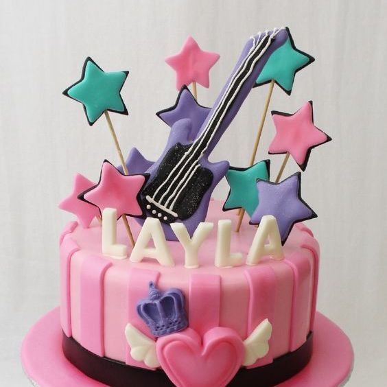 Custom Girl Rock Star Cake Milwaukee