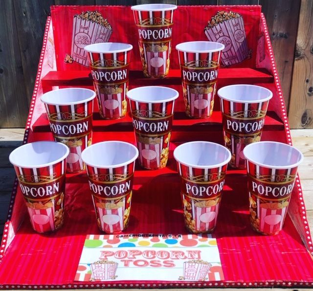 popcorn toss game rental, stag and doe game rental, carnival game rental, movie theme game rental