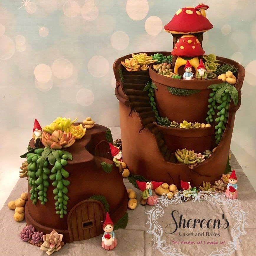 Fairy Garden Plant Pot Cake