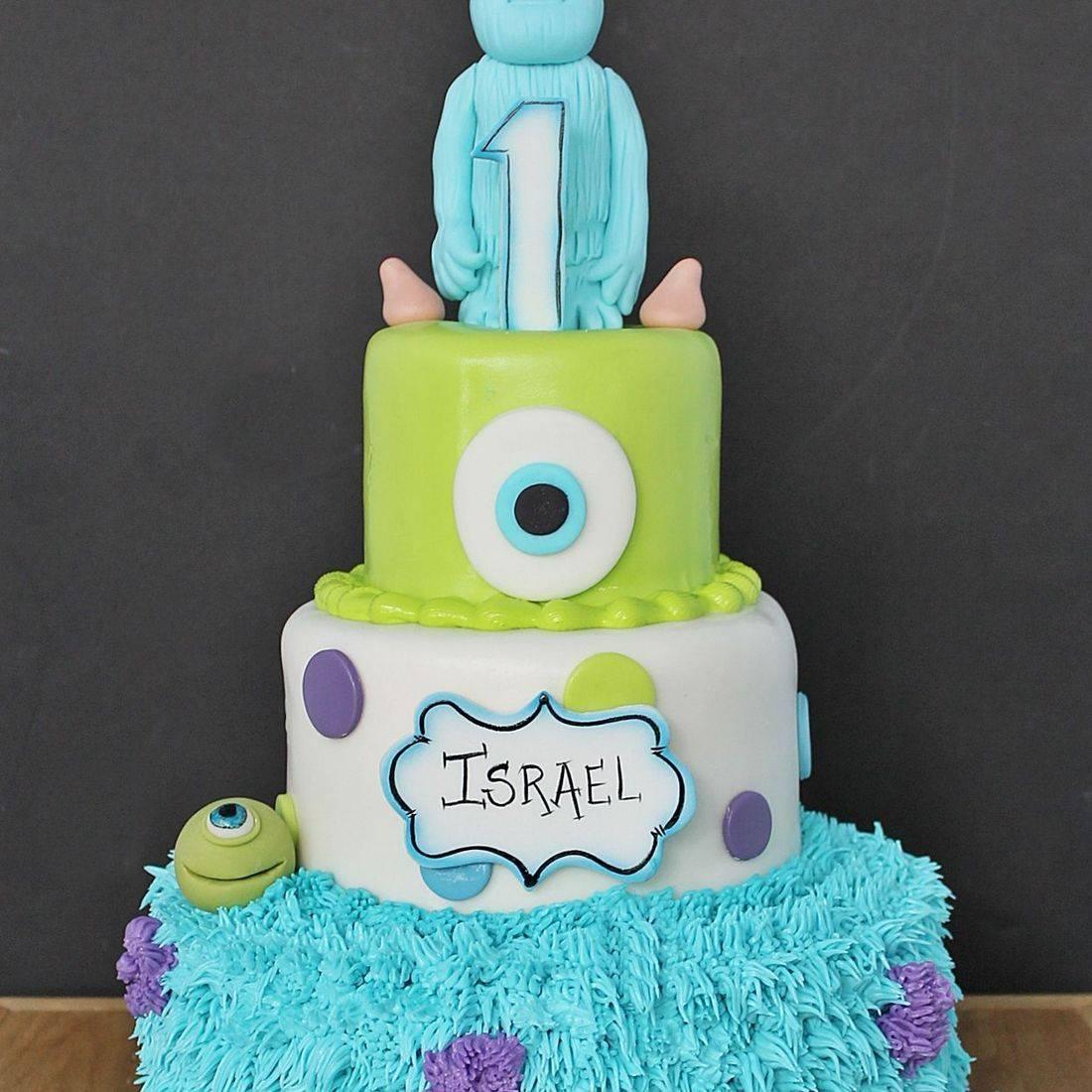 Custom  Mikey & Sully Cake  Milwaukee