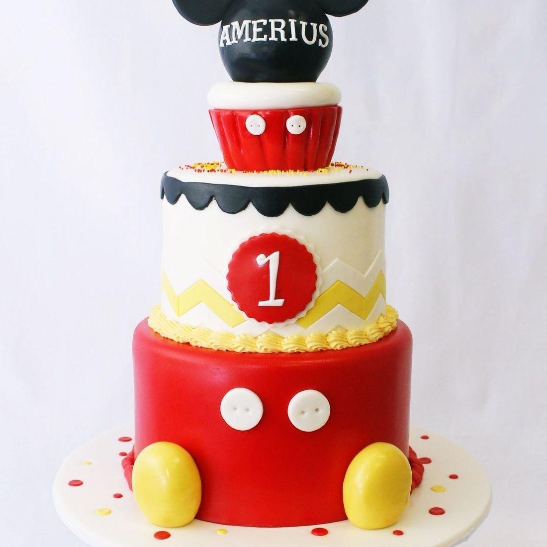 Custom Mickey Mouse Cupcake Cake  Milwaukee
