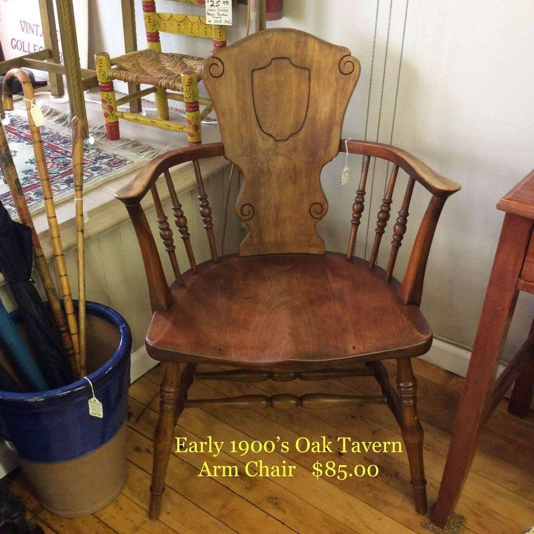 Early 1900's Oak Tavern Arm Chair   $85.00