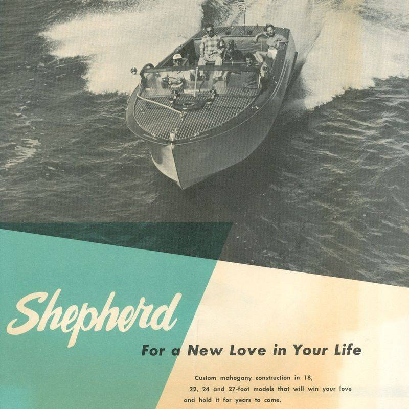 Shepherd Boats vintage poster