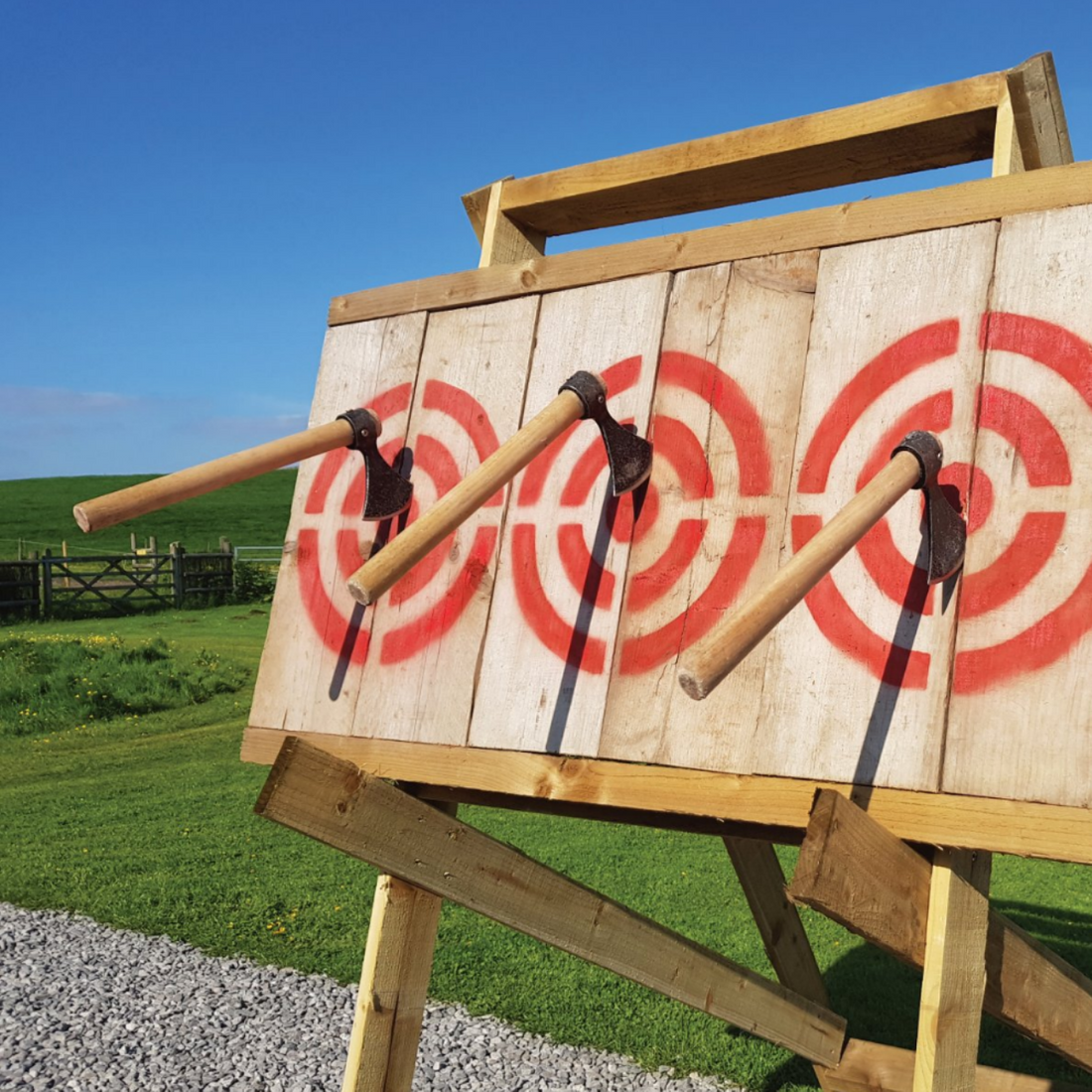 Group axe throwing for Stag parties or Hen parties in Sheffield.
