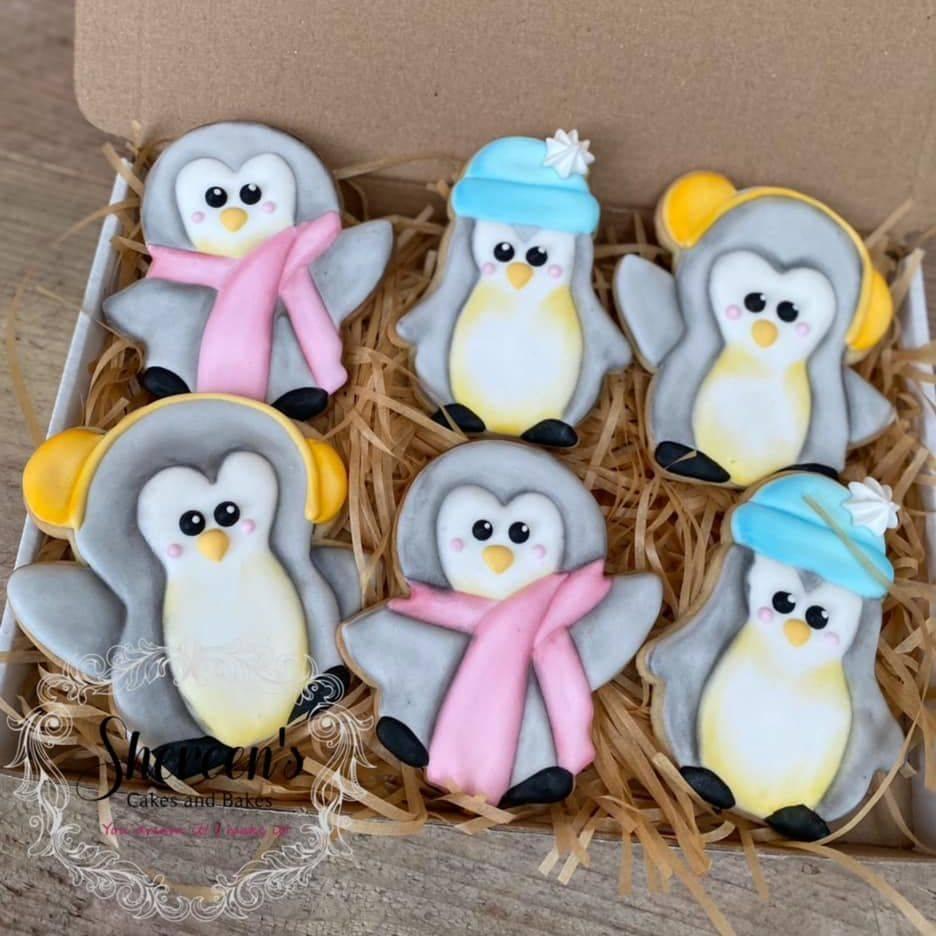 Penguin Cute Winter Cookies