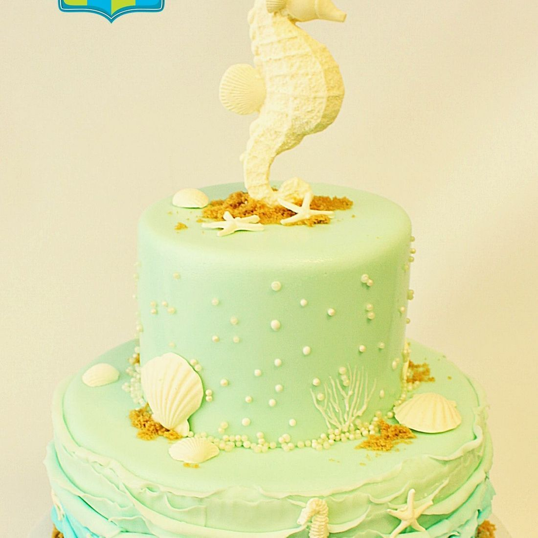Custom Seahorse Baby Shower  Cake  Milwaukee